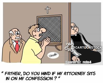 religious cartoon, confessional, criminal, legal